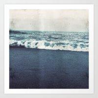 retro ocean Art Print