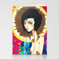 Geometric Madonna  Stationery Cards