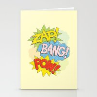 Zap! Bang! Pow! Stationery Cards