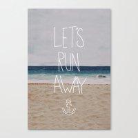 Let's Run Away | Sandy Beach, Hawaii Canvas Print