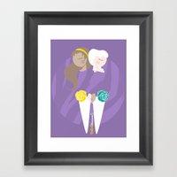 Teenage Endometriosis Awareness Framed Art Print