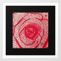 Roses Are Red... Art Print