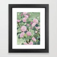 Pink Florals Framed Art Print