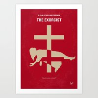 No666 My The Exorcist minimal movie poster Art Print