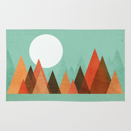 From the edge of the mountains Area & Throw Rug