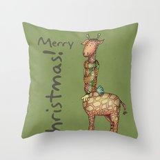 Cleo - green Throw Pillow