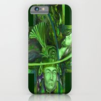 iPhone & iPod Case featuring Religion green by Sarevski