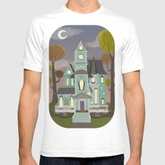 House Mens Fitted Tee White SMALL