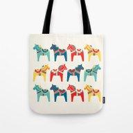 Swedish Horses Tote Bag