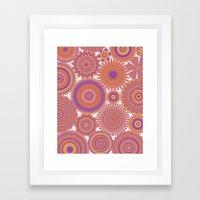 Kaleidoscopic-Fiesta Col… Framed Art Print