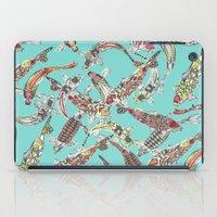Lucky Koi Blue iPad Case