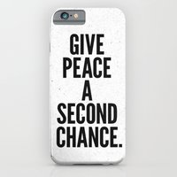 iPhone & iPod Case featuring Give Peace a Second Chance. by Nick Nelson