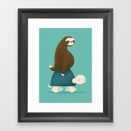 Slow Ride Framed Art Print