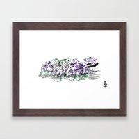 3D GRAFFITI - PHRASE Framed Art Print