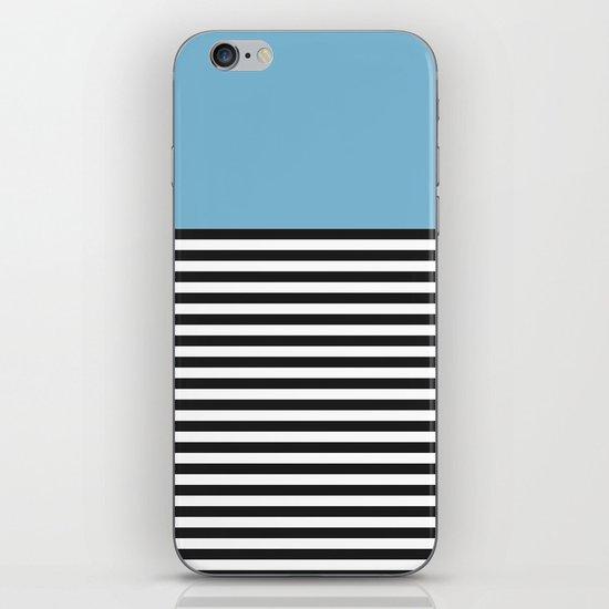 STRIPE COLORBLOCK {DUSK BLUE} iPhone & iPod Skin
