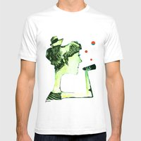 ACHTUNG! Mens Fitted Tee White SMALL