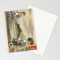The April Fish - Vintage / Antique French Post Card - Piosson D'Avril - April Fools Day Stationery Cards