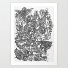 A Horse Runs Up The Mountain Art Print