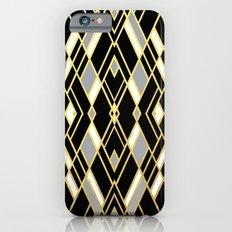 Art Deco Grey Gold Slim Case iPhone 6s