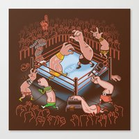 Arm Wrestle Mania Canvas Print