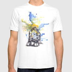 R2D2 from Star Wars Mens Fitted Tee White SMALL