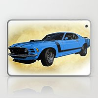 Ford Mustang Boss 302 - Grabber Blue Laptop & iPad Skin