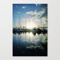 mirrored marina Canvas Print
