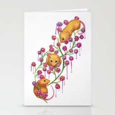 Watercolour Mice in the Bush Stationery Cards