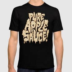 Pure Applesauce!  Black SMALL Mens Fitted Tee
