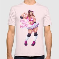 LadyBeard Mens Fitted Tee Light Pink SMALL