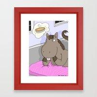 Super Horse: Pie Dreaming Framed Art Print