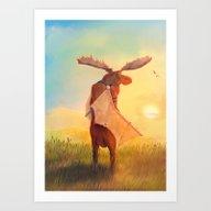 Art Print featuring Wistful by Sam Lyne