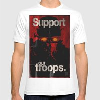 Support Our Troops Mens Fitted Tee White SMALL