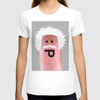 einstein Womens Fitted Tee White SMALL