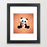 Christmas Panda Framed Art Print