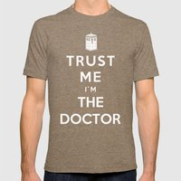 Trust Me I`m The Doctor Mens Fitted Tee Tri-Coffee SMALL