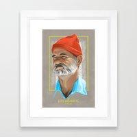 Steve Zissou Life Aquati… Framed Art Print