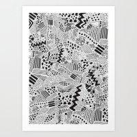 GRAPHic-MoN0T0NE Art Print