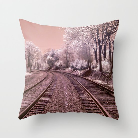 Train Track in Culpeper Throw Pillow