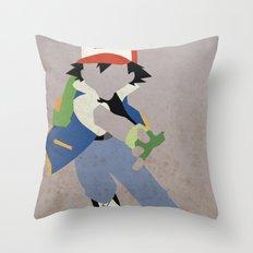Ash Ketchum Throw Pillow