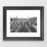 All Trains Lead To Vienn… Framed Art Print