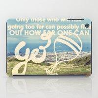 Adventure Quote, hot air balloon iPad Case