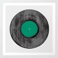 Vinyl Record Art Print