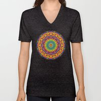 Colorful Geometry Unisex V-Neck