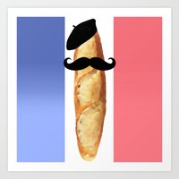 Monsieur Baguette Art Print