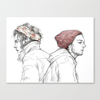 Rose and Dagger Canvas Print