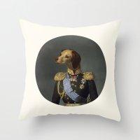 dog military Throw Pillow