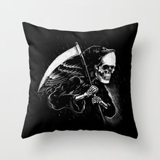 DEATH WILL HAVE HIS DAY Throw Pillow