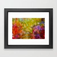 Burgundy And Olive Abstr… Framed Art Print