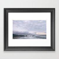 Crescent Beach Framed Art Print
